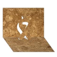 Granite Brown 1 Ribbon 3d Greeting Card (7x5)  by trendistuff