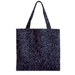 GRANITE BLUE-BLACK 3 Zipper Grocery Tote Bags by trendistuff