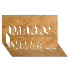 FAUX STONE Merry Xmas 3D Greeting Card (8x4)  by trendistuff