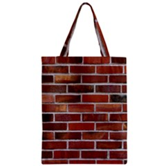 COLORFUL BRICK WALL Zipper Classic Tote Bags by trendistuff