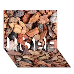 Colored Rocks Hope 3d Greeting Card (7x5)