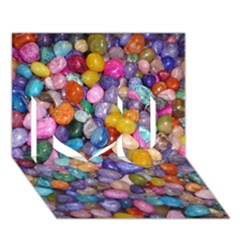 Colored Pebbles I Love You 3d Greeting Card (7x5)  by trendistuff