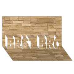 Block Wall 2 Best Bro 3d Greeting Card (8x4)  by trendistuff