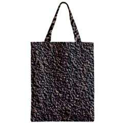 BLACK GRAVEL Zipper Classic Tote Bags by trendistuff