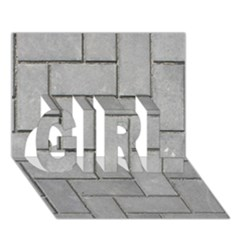 Alternating Grey Brick Girl 3d Greeting Card (7x5)  by trendistuff