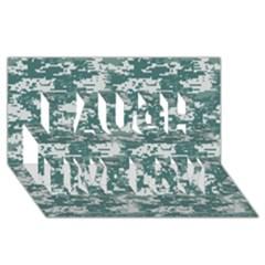 Camo Digital Urban Laugh Live Love 3d Greeting Card (8x4)