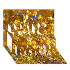YELLOW LEAVES You Rock 3D Greeting Card (7x5)  by trendistuff
