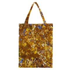 Yellow Leaves Classic Tote Bags by trendistuff