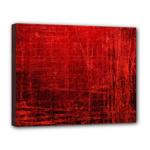 Shades Of Red Canvas 14  X 11  by trendistuff