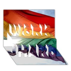 Pride Flag Work Hard 3d Greeting Card (7x5)  by trendistuff