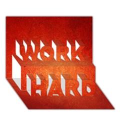 Orange Dot Art Work Hard 3d Greeting Card (7x5)  by trendistuff
