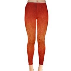 ORANGE DOT ART Winter Leggings  by trendistuff