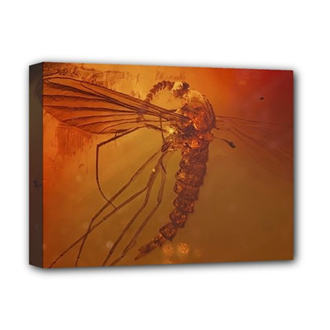 Mosquito In Amber Deluxe Canvas 16  X 12   by trendistuff