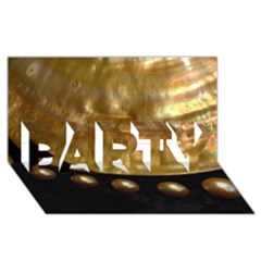 Golden Pearls Party 3d Greeting Card (8x4)  by trendistuff