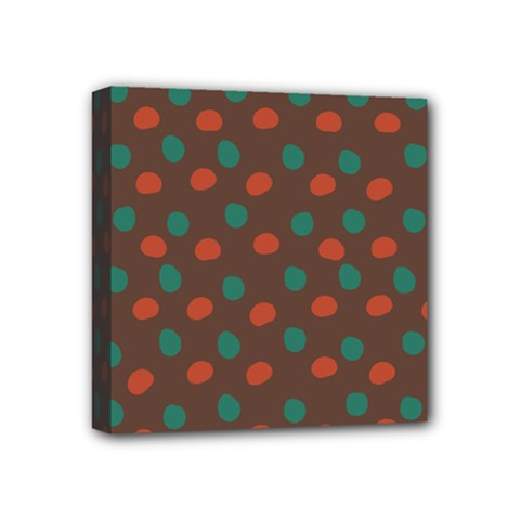 Distorted Polka Dots Pattern Mini Canvas 4  X 4  (stretched) by LalyLauraFLM