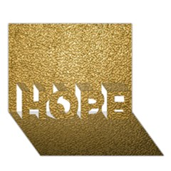 GOLD PLASTIC HOPE 3D Greeting Card (7x5)  by trendistuff