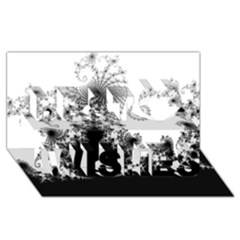 Fractal Best Wish 3d Greeting Card (8x4)  by trendistuff