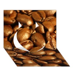 Chocolate Coffee Beans Heart 3d Greeting Card (7x5)  by trendistuff