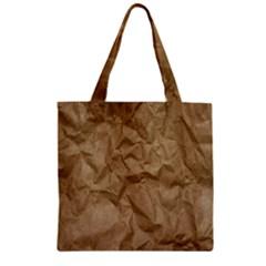 Brown Paper Zipper Grocery Tote Bags by trendistuff