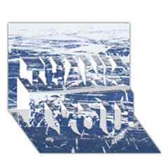 Blue And White Art Thank You 3d Greeting Card (7x5)  by trendistuff