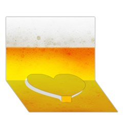 Beer Heart Bottom 3d Greeting Card (7x5)  by trendistuff