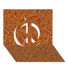 Rusted Metal Peace Sign 3d Greeting Card (7x5)  by trendistuff