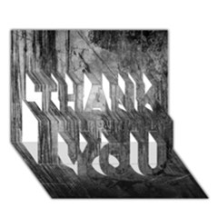 Grunge Metal Night Thank You 3d Greeting Card (7x5)  by trendistuff
