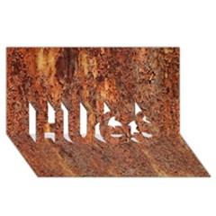 Flaky Rusting Metal Hugs 3d Greeting Card (8x4)  by trendistuff