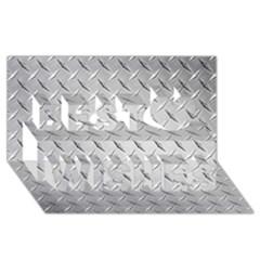 Diamond Plate Best Wish 3d Greeting Card (8x4)  by trendistuff