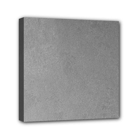 Grey Suede Mini Canvas 6  X 6  by trendistuff