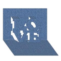Denim Love 3d Greeting Card (7x5)  by trendistuff