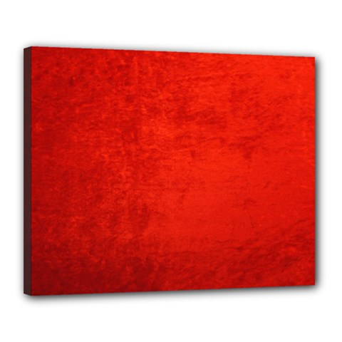 Crushed Red Velvet Canvas 20  X 16  by trendistuff
