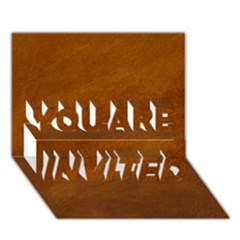 BRUSHED SUEDE TEXTURE YOU ARE INVITED 3D Greeting Card (7x5)  by trendistuff