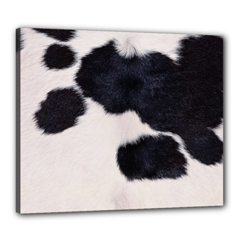 Spotted Cow Hide Canvas 24  X 20  by trendistuff