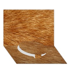 LIGHT BROWN FUR Circle Bottom 3D Greeting Card (7x5)  by trendistuff