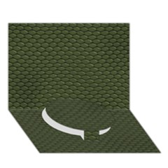 Green Reptile Skin Circle Bottom 3d Greeting Card (7x5)  by trendistuff