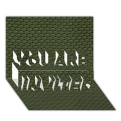 Green Reptile Skin You Are Invited 3d Greeting Card (7x5)  by trendistuff