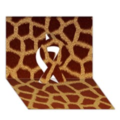 Giraffe Hide Ribbon 3d Greeting Card (7x5)  by trendistuff