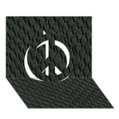 Dark Green Scales Peace Sign 3d Greeting Card (7x5)  by trendistuff