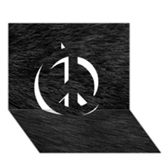 Black Cat Fur Peace Sign 3d Greeting Card (7x5)  by trendistuff