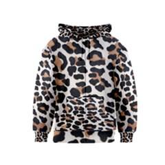 BLACK AND BROWN LEOPARD Kids Zipper Hoodies by trendistuff