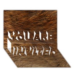 BEAR FUR YOU ARE INVITED 3D Greeting Card (7x5)  by trendistuff