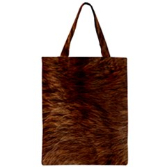 Bear Fur Zipper Classic Tote Bags by trendistuff