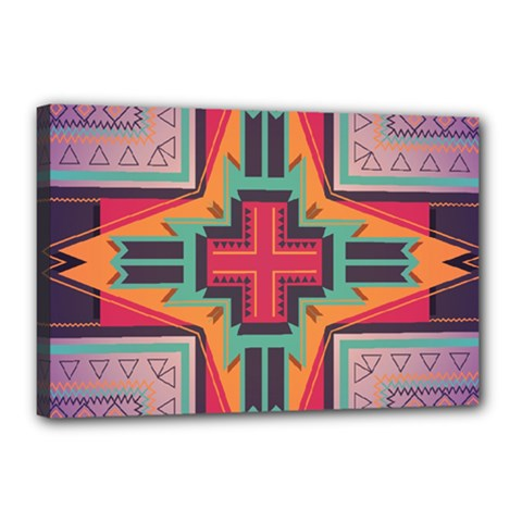 Tribal star Canvas 18  x 12  (Stretched) by LalyLauraFLM