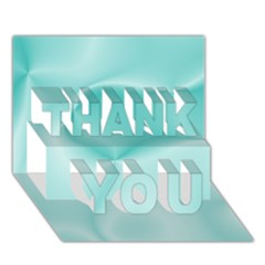 Colors In Motion,teal THANK YOU 3D Greeting Card (7x5)  by MoreColorsinLife
