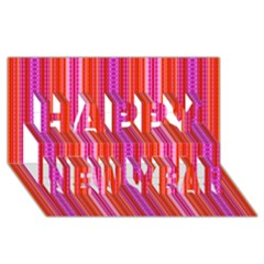 Pattern 1576 Happy New Year 3d Greeting Card (8x4)