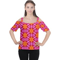 Cute Pretty Elegant Pattern Women s Cutout Shoulder Tee