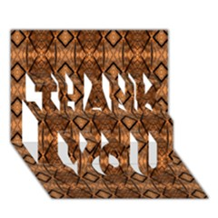 Faux Animal Print Pattern Thank You 3d Greeting Card (7x5)  by creativemom