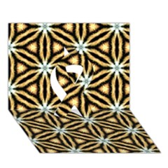 Faux Animal Print Pattern Ribbon 3d Greeting Card (7x5)  by creativemom