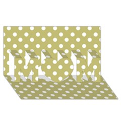 Lime Green Polka Dots Mom 3d Greeting Card (8x4)  by creativemom